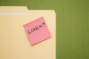 Lunch sticky note.